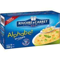 Alphabet en soupe