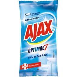 Ajax Lingettes Optimal 7 salle de bain & WC le paquet de 50