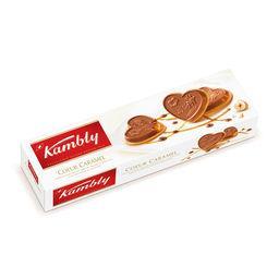 Biscuit cœur caramel nappé chocolat au lait