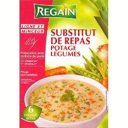 Substitut de repas potage légumes 6x55g