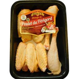 Fricassé de poulet fermier du Périgord jaune Label R...