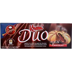 Sablés Krem' Duo à la crème au goût de chocolat