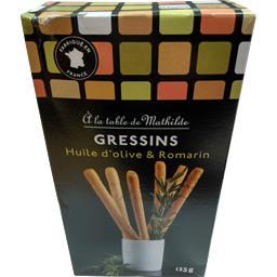 La table de mathilde Gressins romarin et huile d'olive La boîte de 125gr