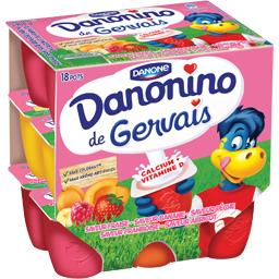 Danonino - Fromage blanc saveurs aux fruits
