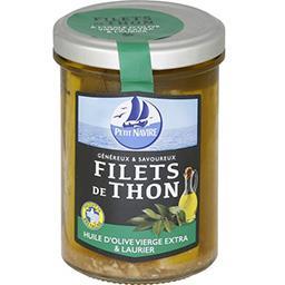 Filets de thon huile d'olive vierge extra & laurier