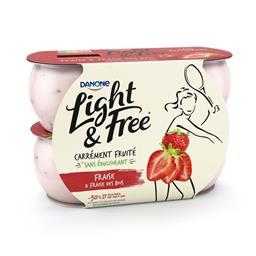 Light & Free - Yaourt fraise & fraise des bois