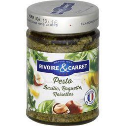 Sauce Pesto basilic roquette noisettes