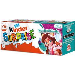 Kinder Kinder Surprise - Œuf chocolat au lait avec surprise les 3 pièces de 20 g