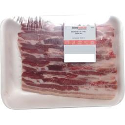 Poitrine de porc tranche