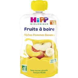 Gourde fruits à boire pêches pommes bananes BIO dès 12 mois