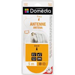 Câble coaxial pour antenne mâle/mâle 9,52 mm