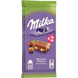 Chocolat au lait noisettes entières