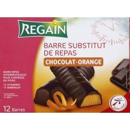 Barre substitut de repas chocolat orange