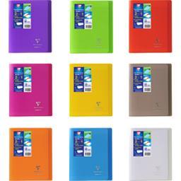 Cahier Koverbook avec rabats 170x220 seyès coloris assortis