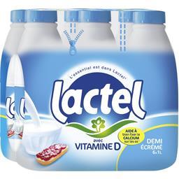 Lait demi-écrémé avec vitamine D