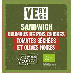 Sandwiches BIO à l'houmous