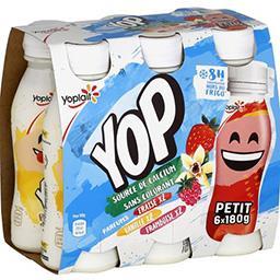 P'tit Yop - Yaourt à boire goûts fraise/vanille/fram...