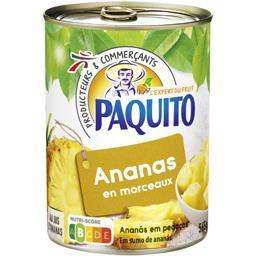 Ananas en morceaux au jus d'ananas