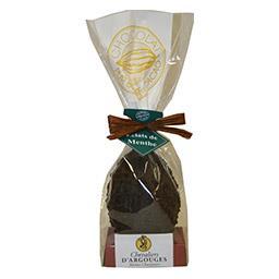Chevaliers d'Argouges Œuf en chocolat noir éclats de menthe le sachet de 120 g
