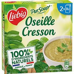 Pur'Soup - Soupe oseille cresson et crème fraîche
