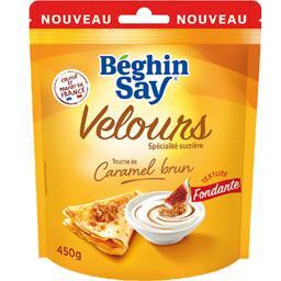 Béghin Say Spécialité sucrière Velours touche de caramel brun la poche de 450 g