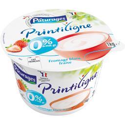Fromage frais fraise 0%