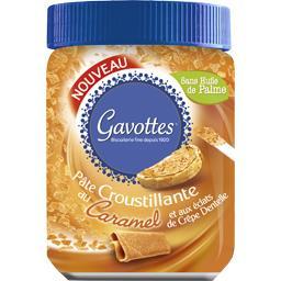 Pâte à tartiner croustillante caramel éclats crêpe d...