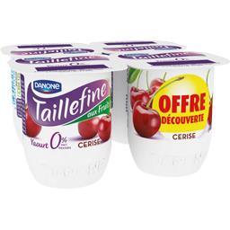 Danone Taillefine Yaourt brassé cerise 0% MG