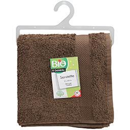 Eponge serviette bio chocolat 50*100