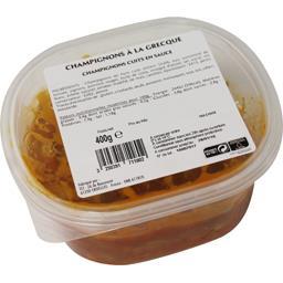 Nos recettes traiteur Salade de champignons et sauce à la Grecque la barquette de 400 g