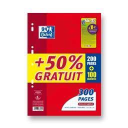 Feuilles simples sous film, 300p, 50% offertes, 210 x 297, Q5 x 5, 90g