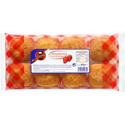 Colis de 12 paquets de Magdalenas fourrées fraise x 8 280g