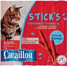 Stick's tendres riche en saumon pour chat