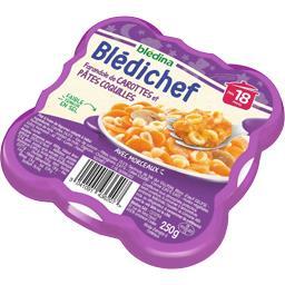Blédina Blédina  - Farandole de carottes et pâtes coquilles... l'assiette de 250 g