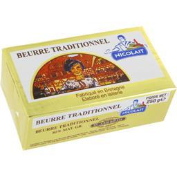 Beurre traditionnel fabriqué en Bretagne, élaboré en laiterie