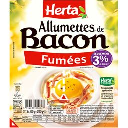 Allumettes de bacon fumées