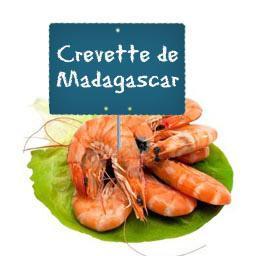 CREVETTES calibre 60/80 entières de MADAGASCAR cuites