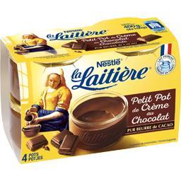 Nestlé La Laitière Petit pot de crème au chocolat les 4 pots de 100 g