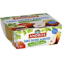 Dessert fruitier pomme poire Williams sans sucres aj...