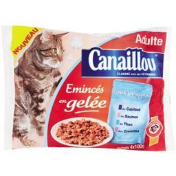 Emincés en gelée aux poissons pour chat adulte