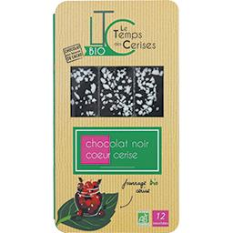 Bouchées chocolat noir cœur cerise BIO