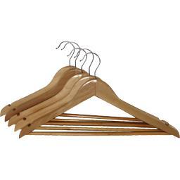 Cintres bois droit avec barrette