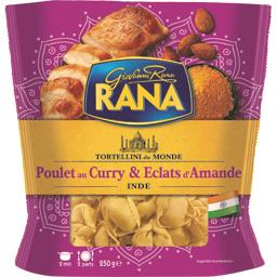 Tortellini poulet au curry & éclats d'amande