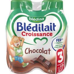 Blédilait Croissance - Lait de suite liquide chocola...