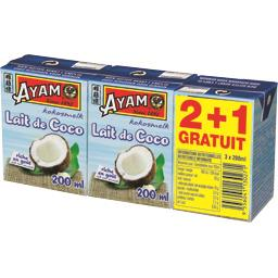 Ayam Lait de coco les 2 briques de 200 ml