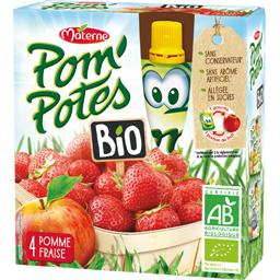 Pom'Potes BIO - Compote pomme fraise BIO