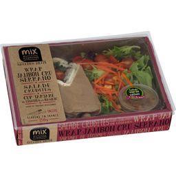 Salade Mezze Wrap jambon cru salade crudité légumes basilic