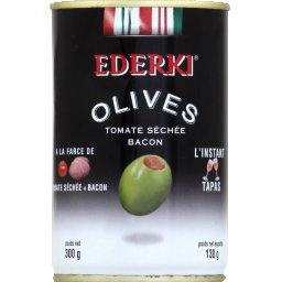 Olives à la farce de tomate séchée bacon