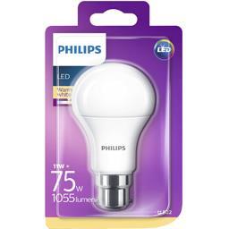 Philips LED Standard 75 W B22 dépolie 2700 K