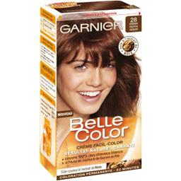 Belle color shampoing colorant 28 châtain marron nat...